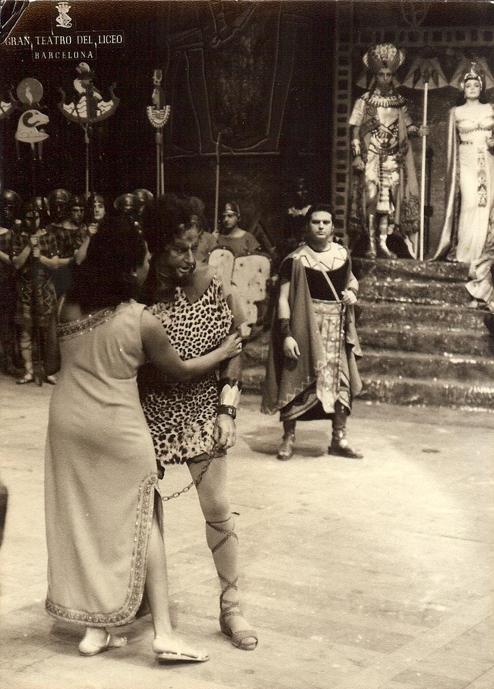 Ella Lee & Cesare Bardelli in Aida - Barcellona - 1968